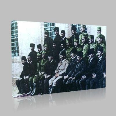 Renkli Atatürk Resimleri 46 Kanvas Tablo
