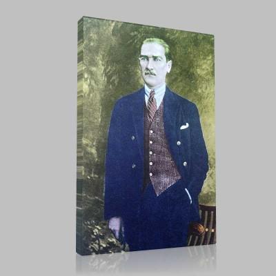Renkli Atatürk Resimleri 5 Kanvas Tablo