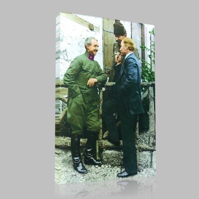 Renkli Atatürk Resimleri 51 Kanvas Tablo
