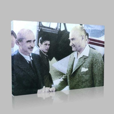Renkli Atatürk Resimleri 52 Kanvas Tablo