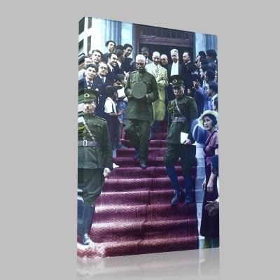 Renkli Atatürk Resimleri 54 Kanvas Tablo