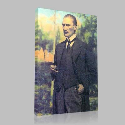 Renkli Atatürk Resimleri 56 Kanvas Tablo
