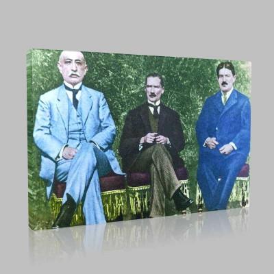 Renkli Atatürk Resimleri 57 Kanvas Tablo