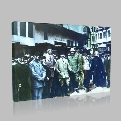 Renkli Atatürk Resimleri 58 Kanvas Tablo
