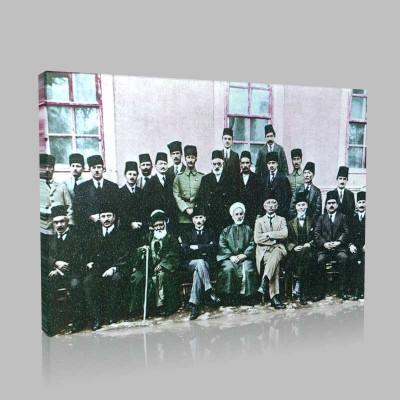 Renkli Atatürk Resimleri 59 Kanvas Tablo