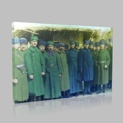 Renkli Atatürk Resimleri 60 Kanvas Tablo
