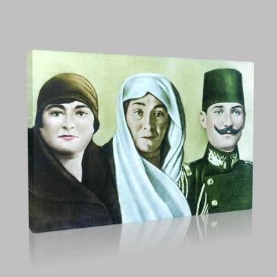 Renkli Atatürk Resimleri 61 Kanvas Tablo