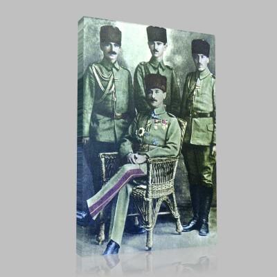 Renkli Atatürk Resimleri 62 Kanvas Tablo