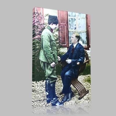 Renkli Atatürk Resimleri 64 Kanvas Tablo