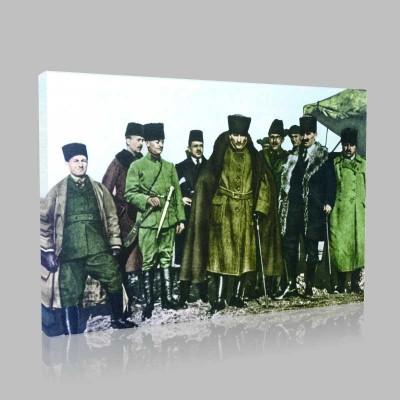 Renkli Atatürk Resimleri 66 Kanvas Tablo