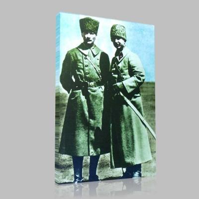 Renkli Atatürk Resimleri 67 Kanvas Tablo