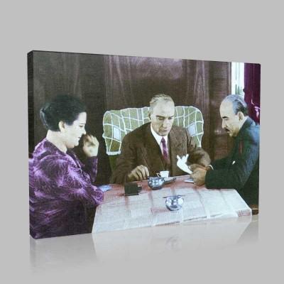 Renkli Atatürk Resimleri 69 Kanvas Tablo