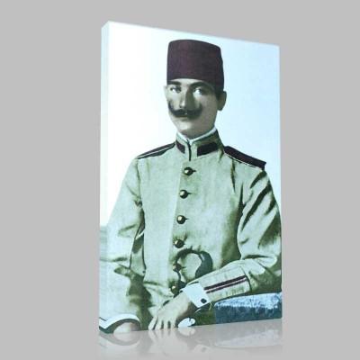 Renkli Atatürk Resimleri 7 Kanvas Tablo