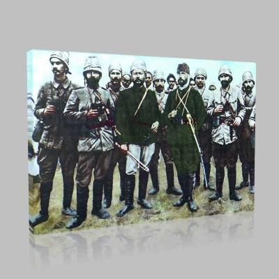 Renkli Atatürk Resimleri 70 Kanvas Tablo