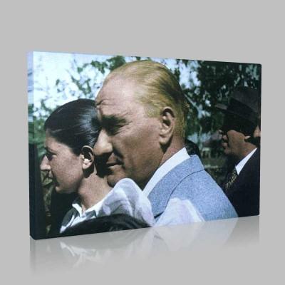 Renkli Atatürk Resimleri 72 Kanvas Tablo