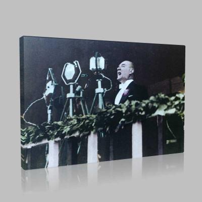 Renkli Atatürk Resimleri 73 Kanvas Tablo