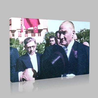 Renkli Atatürk Resimleri 74 Kanvas Tablo