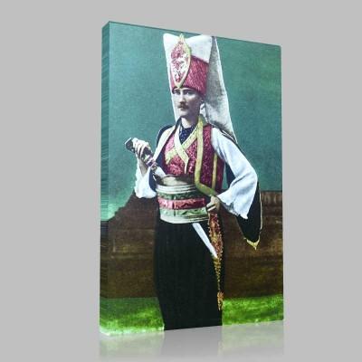 Renkli Atatürk Resimleri 76 Kanvas Tablo