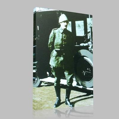 Renkli Atatürk Resimleri 78 Kanvas Tablo