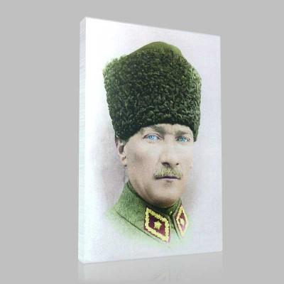 Renkli Atatürk Resimleri 8 Kanvas Tablo