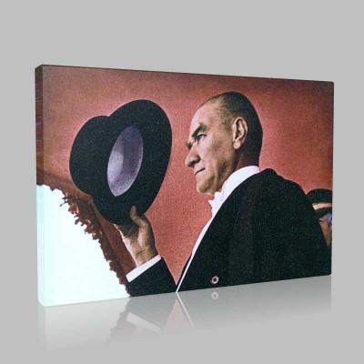 Renkli Atatürk Resimleri 80 Kanvas Tablo