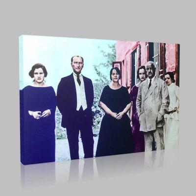 Renkli Atatürk Resimleri 81 Kanvas Tablo