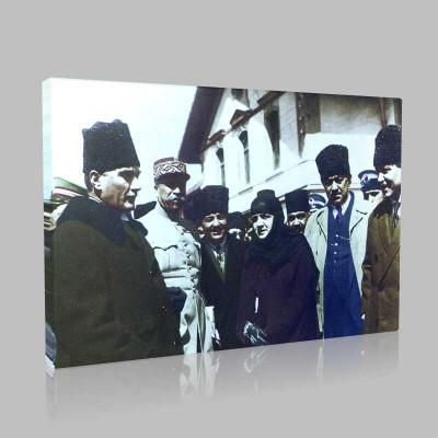 Renkli Atatürk Resimleri 83 Kanvas Tablo