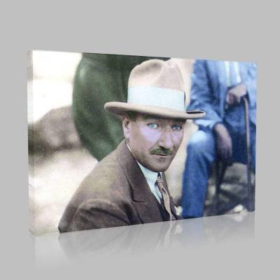 Renkli Atatürk Resimleri 85 Kanvas Tablo