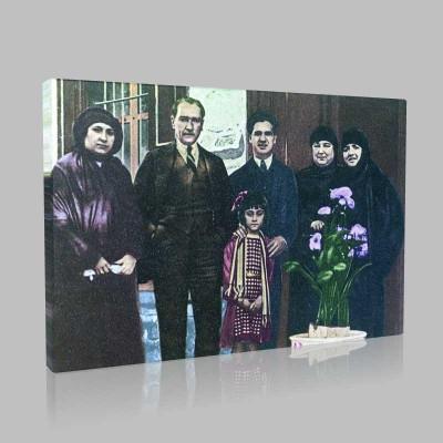 Renkli Atatürk Resimleri 86 Kanvas Tablo