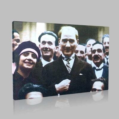 Renkli Atatürk Resimleri 87 Kanvas Tablo