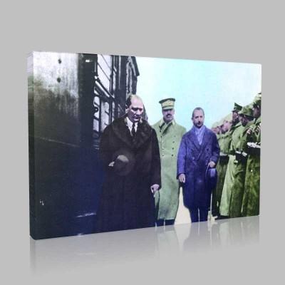 Renkli Atatürk Resimleri 88 Kanvas Tablo