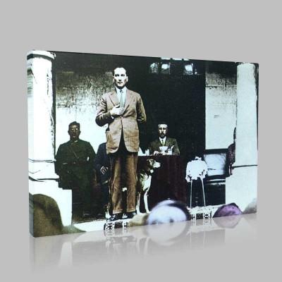 Renkli Atatürk Resimleri 89 Kanvas Tablo