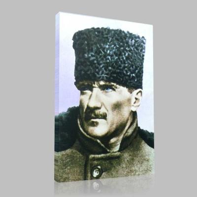 Renkli Atatürk Resimleri 9 Kanvas Tablo