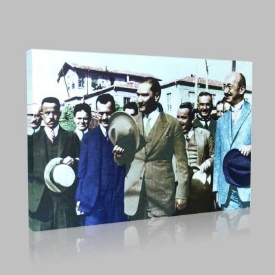 Renkli Atatürk Resimleri 90 Kanvas Tablo