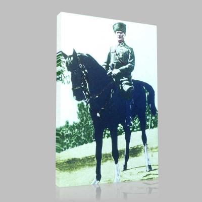 Renkli Atatürk Resimleri 91 Kanvas Tablo