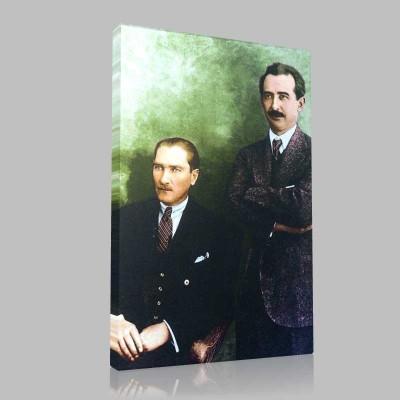 Renkli Atatürk Resimleri 92 Kanvas Tablo