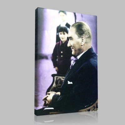 Renkli Atatürk Resimleri 93 Kanvas Tablo