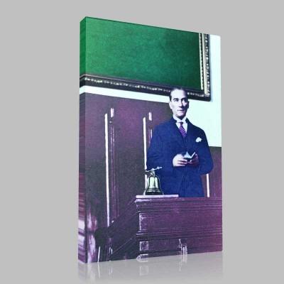 Renkli Atatürk Resimleri 95 Kanvas Tablo