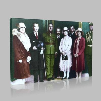 Renkli Atatürk Resimleri 96 Kanvas Tablo