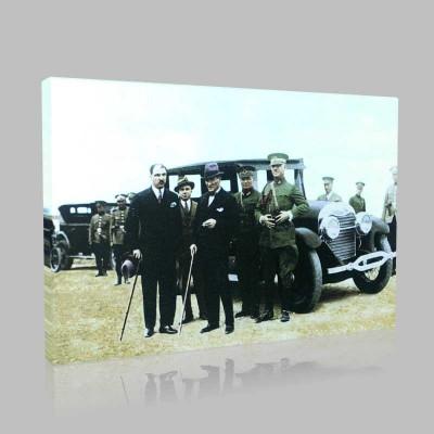 Renkli Atatürk Resimleri 97 Kanvas Tablo