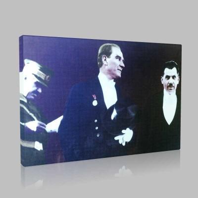 Renkli Atatürk Resimleri 98 Kanvas Tablo