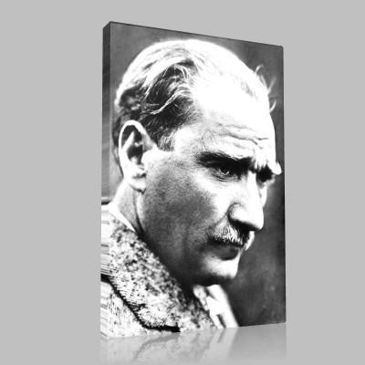 Siyah Beyaz Atatürk Resimleri  1 Kanvas Tablo