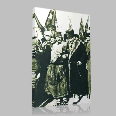 Siyah Beyaz Atatürk Resimleri  10 Kanvas Tablo