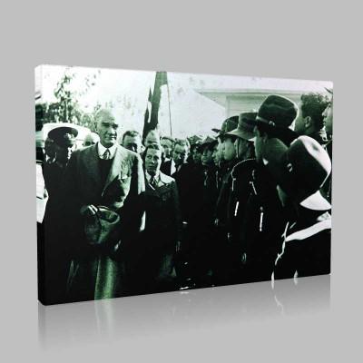 Siyah Beyaz Atatürk Resimleri  101 Kanvas Tablo