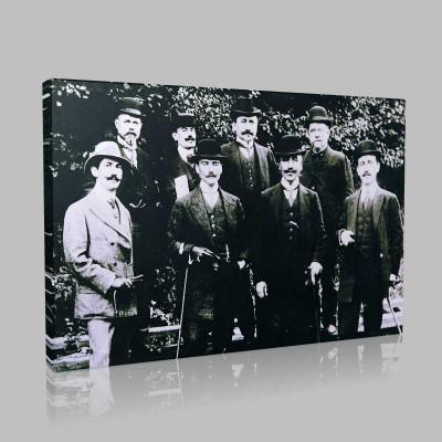 Siyah Beyaz Atatürk Resimleri  103 Kanvas Tablo