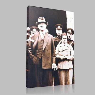 Siyah Beyaz Atatürk Resimleri  104 Kanvas Tablo