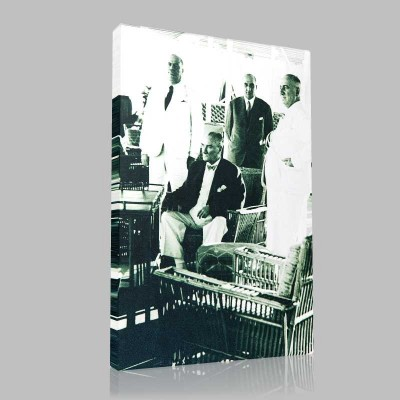 Siyah Beyaz Atatürk Resimleri  106 Kanvas Tablo