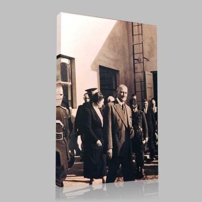 Siyah Beyaz Atatürk Resimleri  108 Kanvas Tablo
