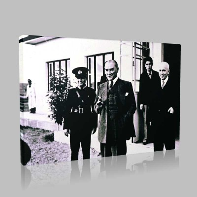 Siyah Beyaz Atatürk Resimleri  109 Kanvas Tablo