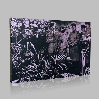 Siyah Beyaz Atatürk Resimleri  11 Kanvas Tablo